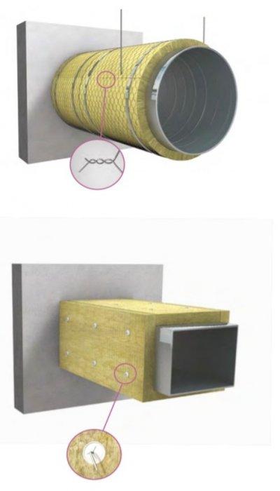 ตัวอย่างงานฉนวนบุผนังท่อร้อน