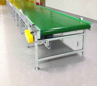 ตัวอย่างการใช้งานสายพาน PVC / PU