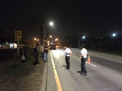 ทดสอบแสงไฟถนน ภาคสนาม