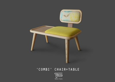 COMBI chair+table (WOOD)