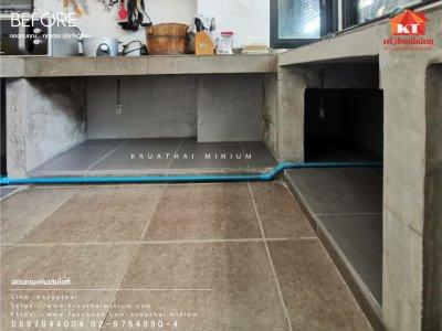ขอขอบคุณ...คุณตาล ชุดบิ้วท์อินบานซิงค์ครัวปูน ทนน้ำกันปลวก พร้อมเกล็ดระบายอากาศและมุ้งกันแมลง