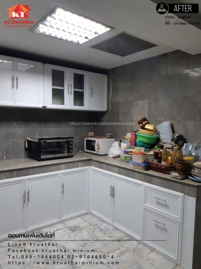 งานติดตั้งบานซิงค์ครัวปูน และตู้ลิ้นชัก คุณสุชาดา บางกอกใหญ่ กรุงเทพ
