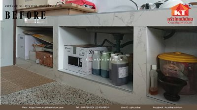 ขอขอบคุณ...คุณดาว ชุดบิ้วท์อินบานซิงค์ครัวปูน ทนน้ำกันปลวก พร้อมเกล็ดระบายอากาศและมุ้งกันแมลง
