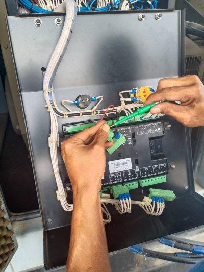 ซ่อมเครื่องกำเนิดไฟฟ้าขนาด150kva รถโมบายเทศบาลนครหาดใหญ่