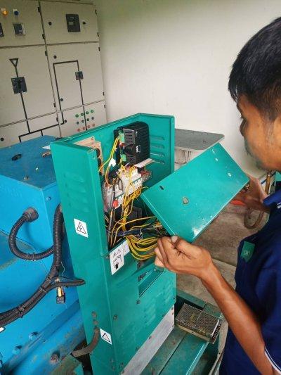 ซ่อมเครื่องกำเนิดไฟฟ้าขนาด200kva กระเช้าลอยฟ้าเทศบาลนครหาดใหญ่