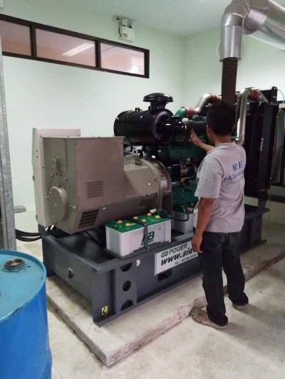ตรวจเช็คเครื่องกำเนิดไฟฟ้า 300KVA มหาวิทยาลัยราชพัฎยะลา