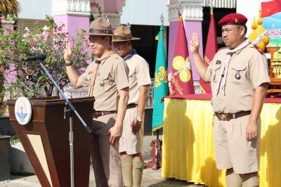 พิธีทบทวนคำปฏิญาณและสวนสนาม เนื่องในวันคล้ายวันสถาปนาคณะลูกเสือแห่งชาติ