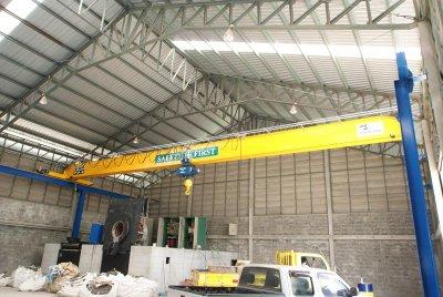 งานติดตั้งเครน 5 ตัน กว้าง 20 เมตร