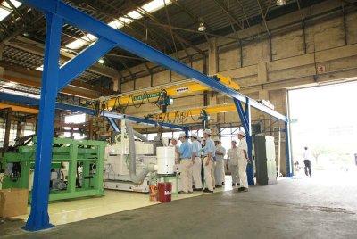 งานติดตั้งเครน 1 ตัน กว้าง 7 เมตร 2 ชุด