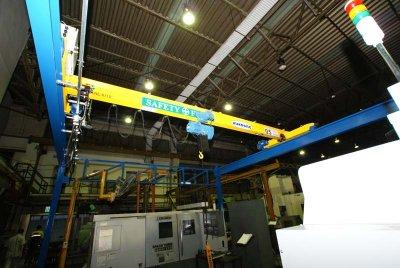 งานติดตั้งเครน 0.5 ตัน กว้าง 5 เมตร