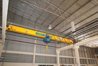 งานติดตั้งเครน 5 ตัน กว้าง 20 เมตร 2 ชุด