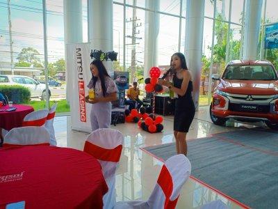 The launch of the new Mitsubishi Triton misuthaiyont branch of Sisaket