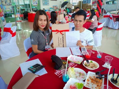 The launch of the new Mitsubishi Triton misuthaiyont branch of Sisaket