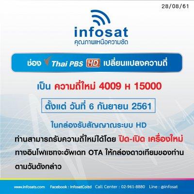 ช่อง Thai PBS HD เปลี่ยนแปลงความถี่