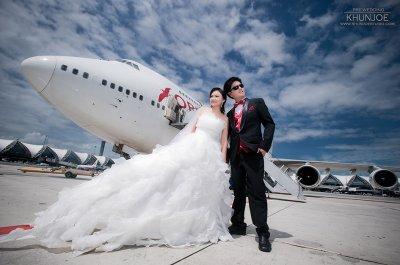 Pre-wedding Outdoor@Suwannabhumi Airport