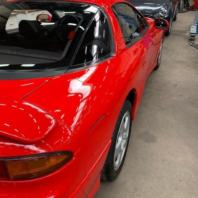 รีวิวขัดฟื้นฟูสภาพสีรถ Toyota Supra