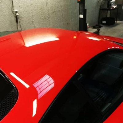 ขัดเคลือบสีรถ 3D รถ Ferrari