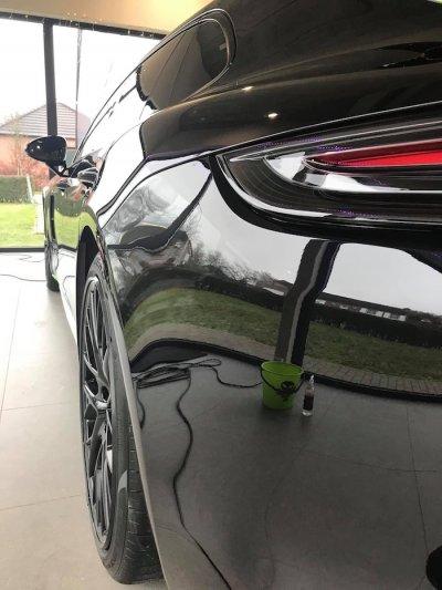 ขัดเคลือบสีรถ 3D รถ Porsche Panamera