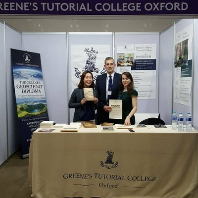Exhibition at UK Further Education Fair 2018 with Greene's Tutorial College