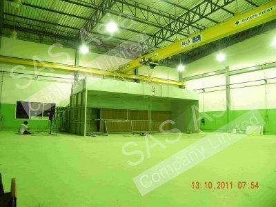 ห้องพ่นสีอุตสาหกรรม