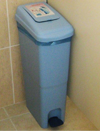ถังใส่ผ้าอนามัย ในห้องน้ำ
