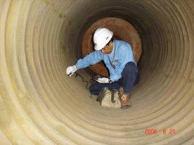 งานวัดความหนาท่อภายในหม้อน้ำ Boiler Tube Thickness Measurement & Inspection