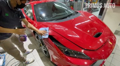 ดูแลรถ Ferrari F8 Tributo ด้วยสเปรย์เคลือบแก้ว ROCKZ