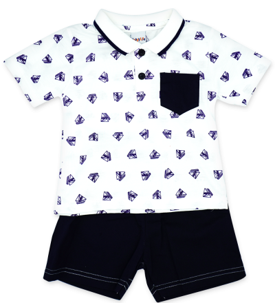 2 Pieces polo shirt and short set