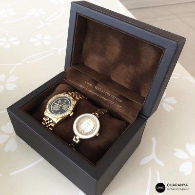 กล่องใส่นาฬิกา 1 เรือน สีน้ำตาล ช้อค วัสดุดีเกรดพรีเมี่ยม กล่องนาฬิกาแบรนด์ สั่งทำกล่องนาฬิกา ทำโลโก้กล่องนาฬิกา