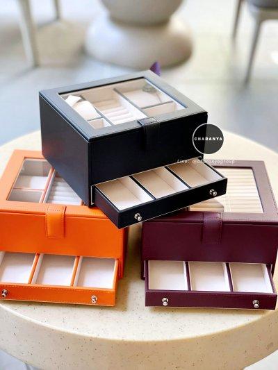 รีวิวกล่องเครื่องประดับ ใส่นาฬิกา ใส่แหวน 2 ชั้น สีดำ เกรดอย่างดี มีหมอนสำหรับคนข้อมือเล็ก สวยพรีเมี่ยม วัสดุดี ควรค่าแก่การใช้งาน Line: @charanyagroup TEL: 093-6699642