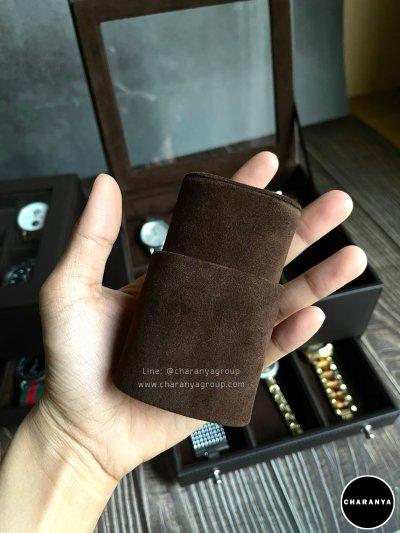 หมอน 2in1 2 ชั้น หมอนนาฬิกาสำหรับคนข้อมือเล็ก Watch box storage กล่องเครื่องประดับ สีส้ม ใส่นาฬิกา ใส่แหวน 2 ชั้น สีดำ เกรดอย่างดี มีหมอนสำหรับคนข้อมือเล็ก สวยพรีเมี่ยม วัสดุดี ควรค่าแก่การใช้งาน Line: @charanyagroup TEL: 093-6699642