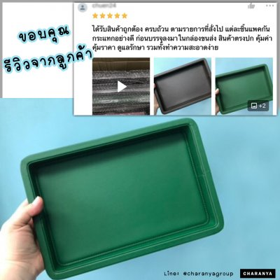 รีวิว ถาดหนัง สีเขียว leather tray ถาดหนังอย่างดี วางของ วางนาฬิกา เครื่องประดับ สีเขียว