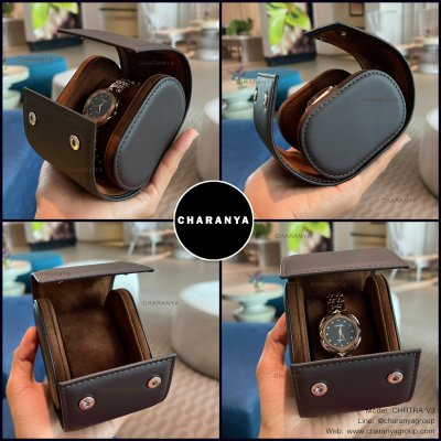 Review รีวิว Travel Watch case เคสใส่นาฬิกา กล่องใส่นาฬิกา 1 เรือน กล่องนาฬิกา แบบพกพา สีน้ำตาล สีช้อค สวยหรู งานดี วัสดุดี เกรดพรีเมี่ยม มอบเป็นของขวัญได้ หรือมอบให้กับลุกค้าวีไอพี VIP ของบริษัท Line: @charanyagroup Tel: 093-6699642