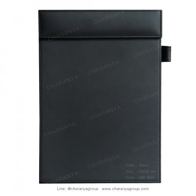 Leather Writing Pad แผ่นหนังรองเขียน รองเซ็นต์เอกสาร A4 สำหรับผู้บริหาร ลูกค้า หรือใช้ในห้องประชุม ห้องสัมมนา Black สีดำ