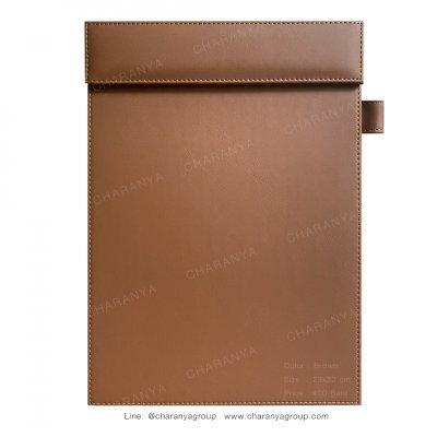 Leather Writing Pad แผ่นหนังรองเขียน รองเซ็นต์เอกสาร A4 สำหรับผู้บริหาร ลูกค้า หรือใช้ในห้องประชุม ห้องสัมมนา สีน้ำตาล Brown