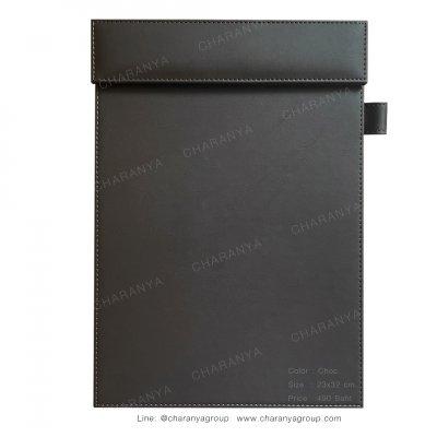 Leather Writing Pad แผ่นหนังรองเขียน รองเซ็นต์เอกสาร A4 สำหรับผู้บริหาร ลูกค้า หรือใช้ในห้องประชุม ห้องสัมมนา Choc สีน้ำตาลไหม้ สีน้ำตาลเข้ม สีช็อค