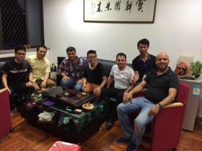 Meeting with foreign customers