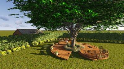 คาเฟ่ใต้ต้นไม้ สวนเมลอน คุณกร