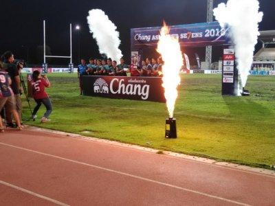 งาน Fire Machine ทีี่สนามกีฬา