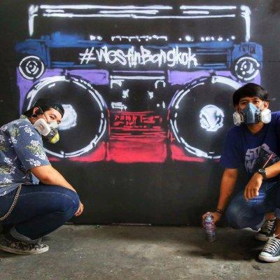 """Bangkok Drift Party"" Graffiti"