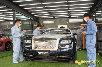 ขั้นตอนการขัดฟื้นฟูสภาพรถ Rolls-Royce