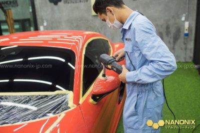รีวิวขัดฟื้นฟูสภาพสีรถ PORSCHE 718