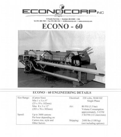 Cartoning Machine รุ่น Econo-60
