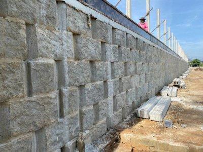 บล็อกกำแพงกันดิน (ขนาดใหญ่)