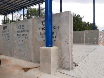ผลงานการใช้ Retaining Wall L Series กำแพงกันสำเร็จรูปพร้อมฐานแผ่
