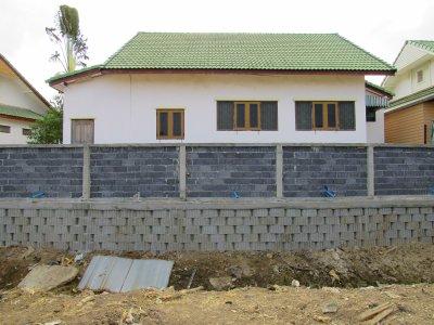 ผลงานการใช้ บล็อกกำแพงกันดิน (ขนาดเล็ก) Retaining Wall Block - Small หน้างาน ตำบล.เหมือง