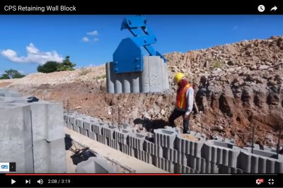 CPS Retaining Wall Block Installation