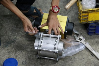 """sirca AP04 actuator ball valve 3pc 3"""""""
