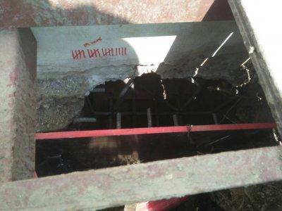 กดเสาเข็มเสริมรากฐาน และทำฟตติ้ง ไซด์งาน ท่าอิฐ