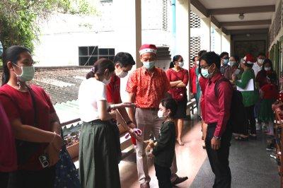 ผู้ปกครองนักเรียนอนุบาลเยี่ยมชมกิจกรรมการเรียนการสอน ระดับประถมศึกษาเพื่อเตรียมนำนักเรียนเข้าศึกษาต่อในระดับประถม